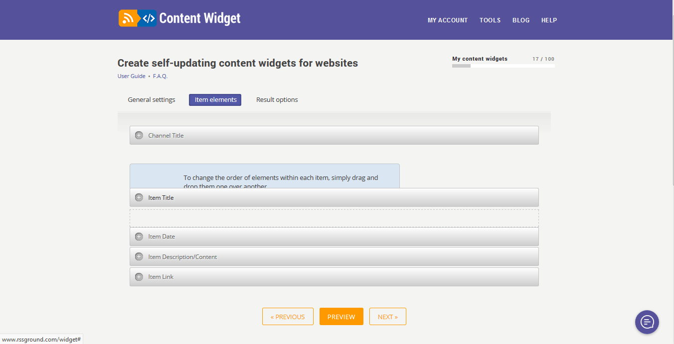What is a content widget? - RSS Ground Knowledgebase