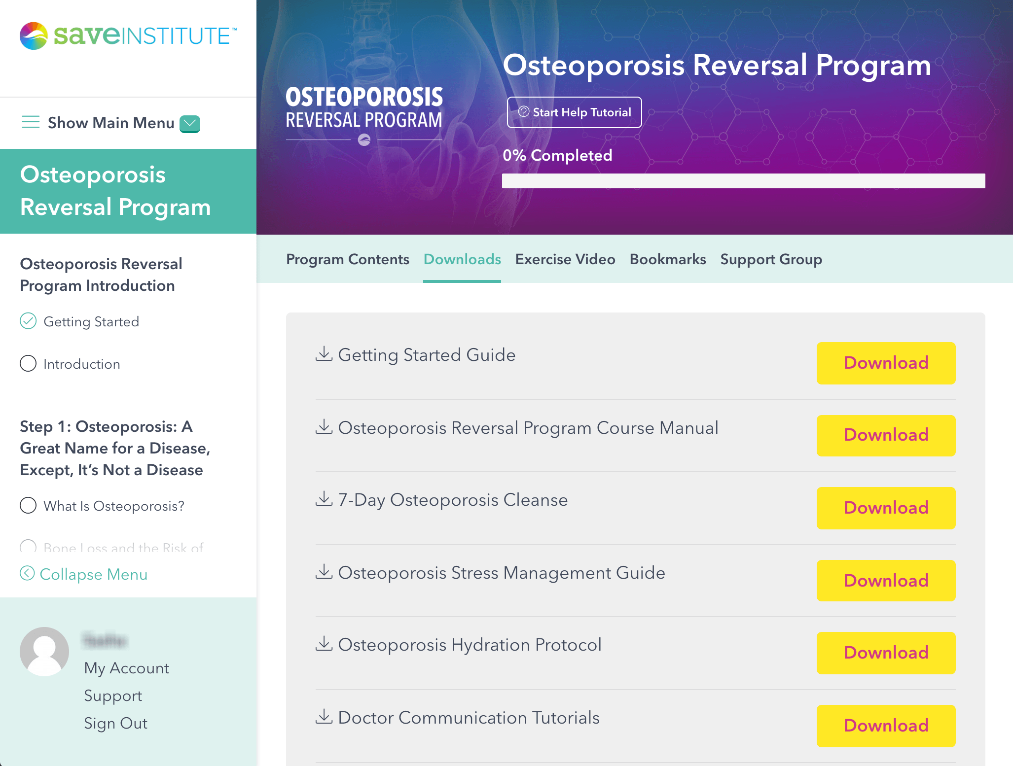 Osteoporosis reversal program save our bones.